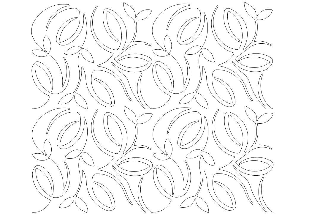 Bamboo Swirls Quilt Pattern