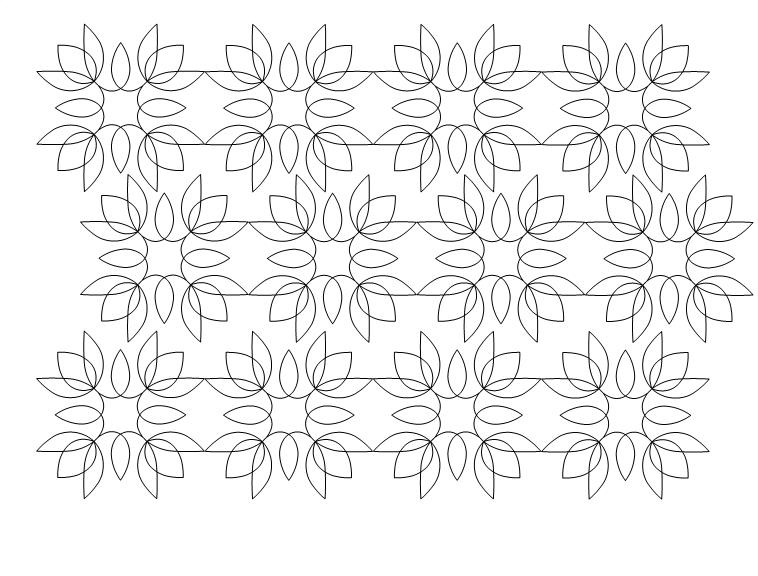 Floralish Alternating Quilt Pattern