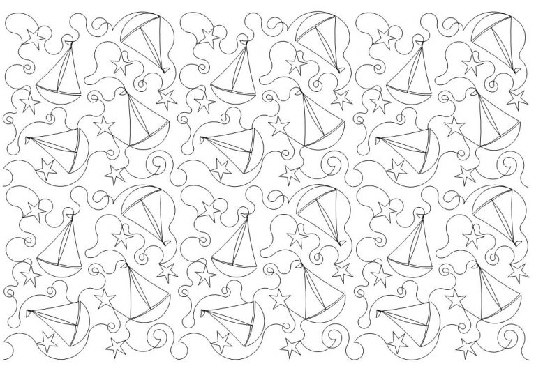 Sailboat n Stars Quilt Pattern