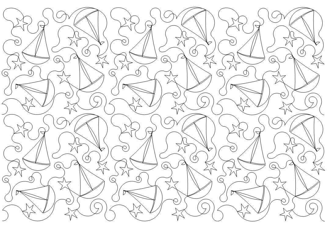 Sailboat n Stars Quilt Pattern