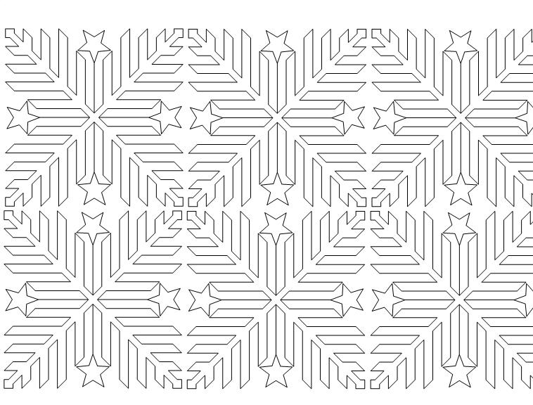 Three Tours Chevron Star Pattern