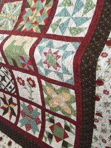 Sampler Block Quilt side view
