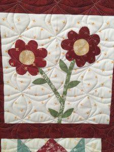 Sampler Block Quilt flower block