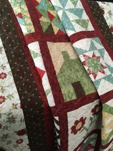 Sampler Block Quilt folded view